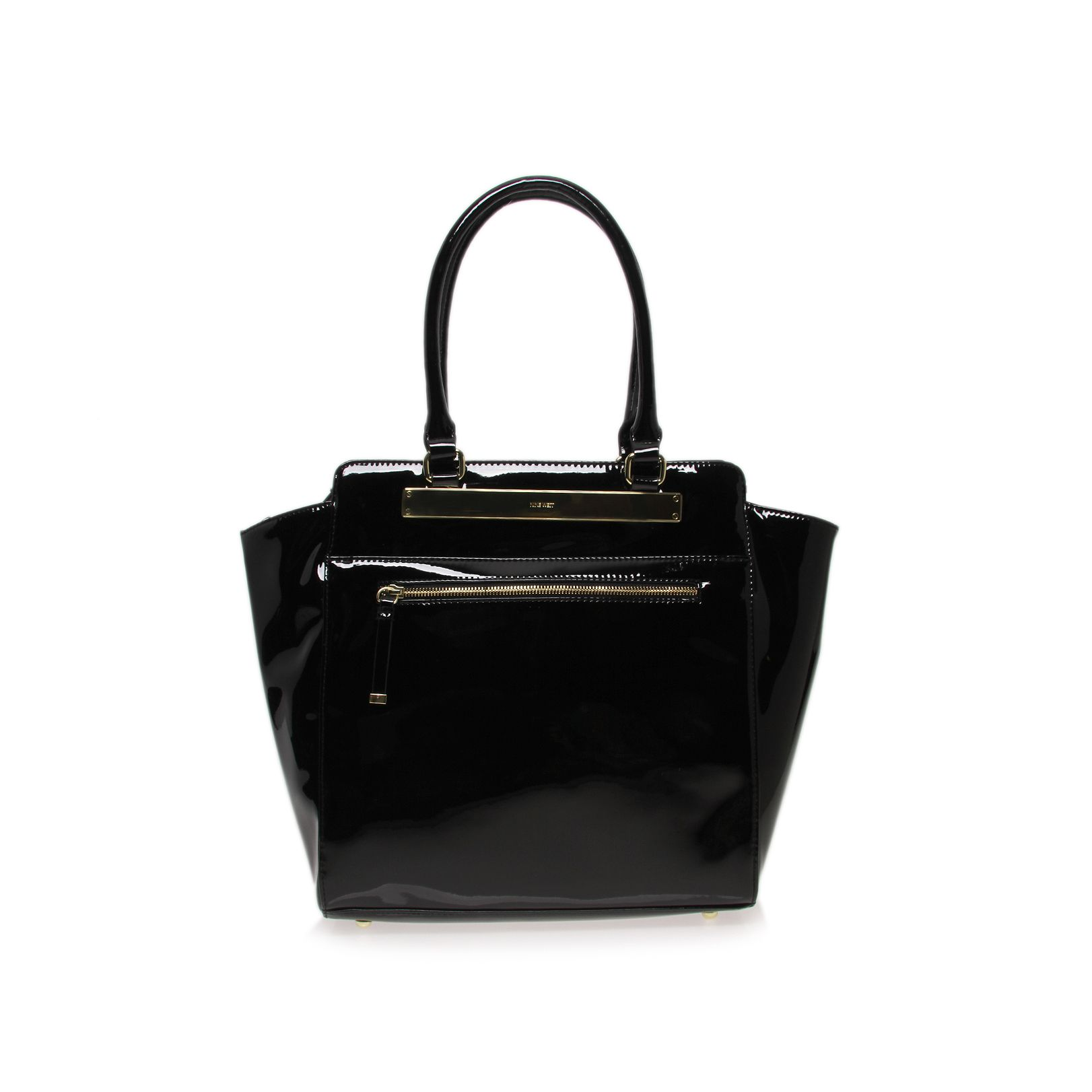 Borderline black tote handbag
