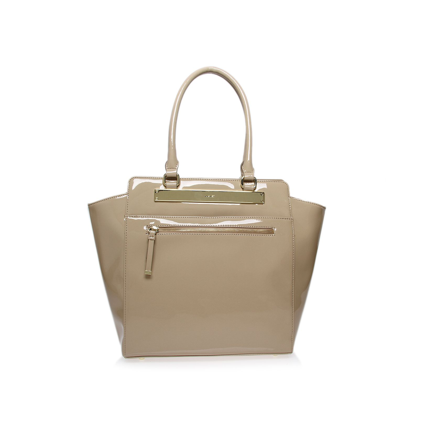Borderline champagne tote handbag