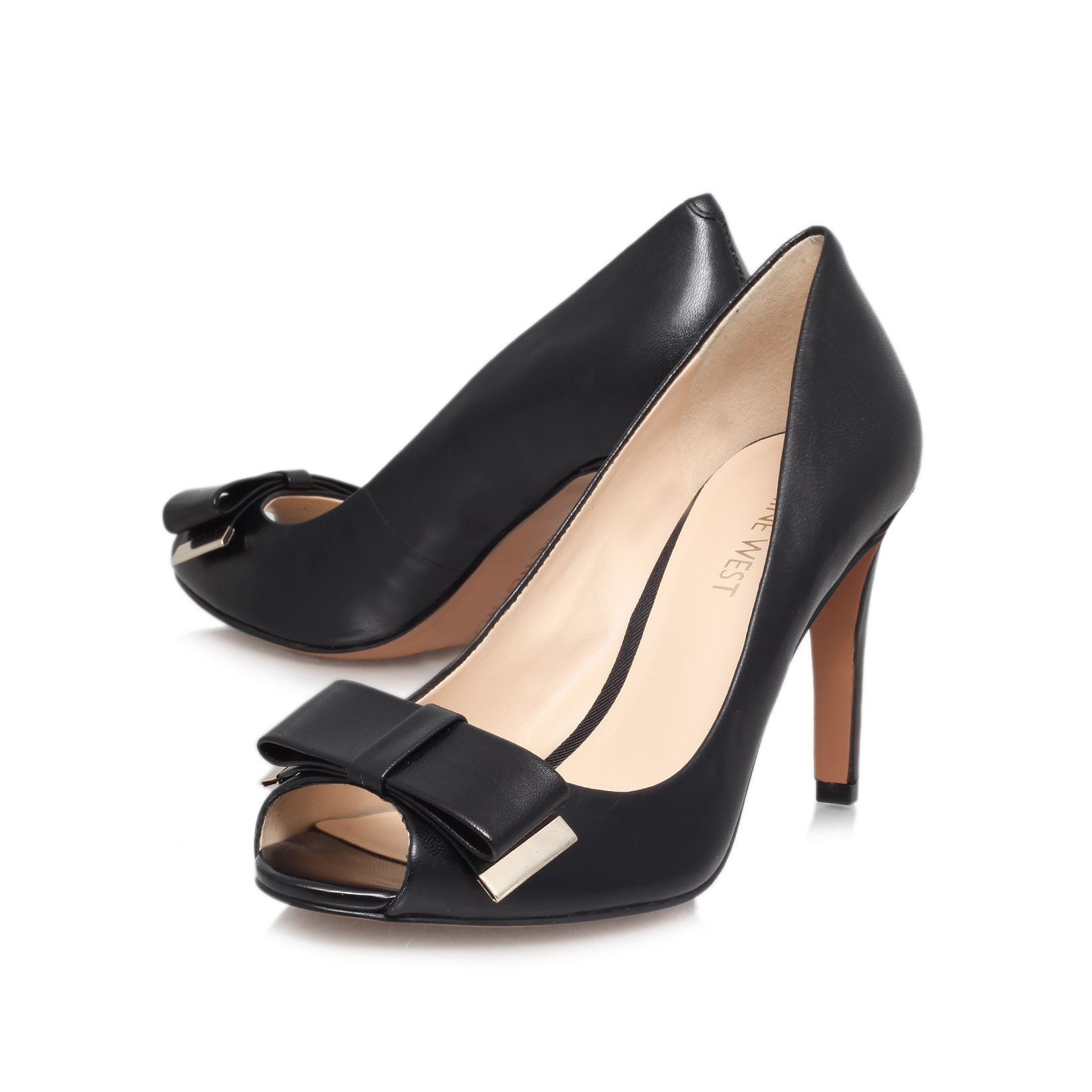 Dhara high heeled court shoes