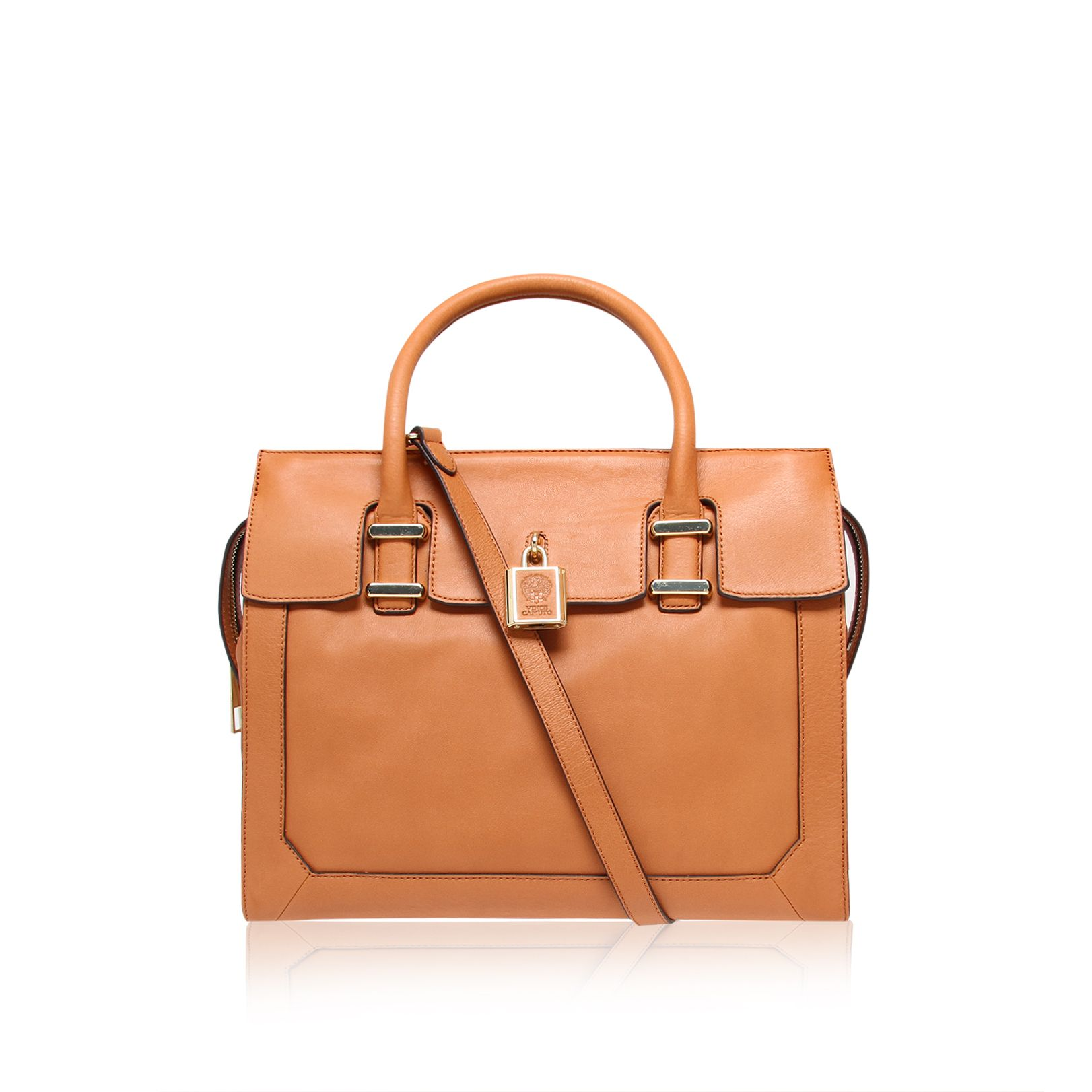 Heidi tan satchel