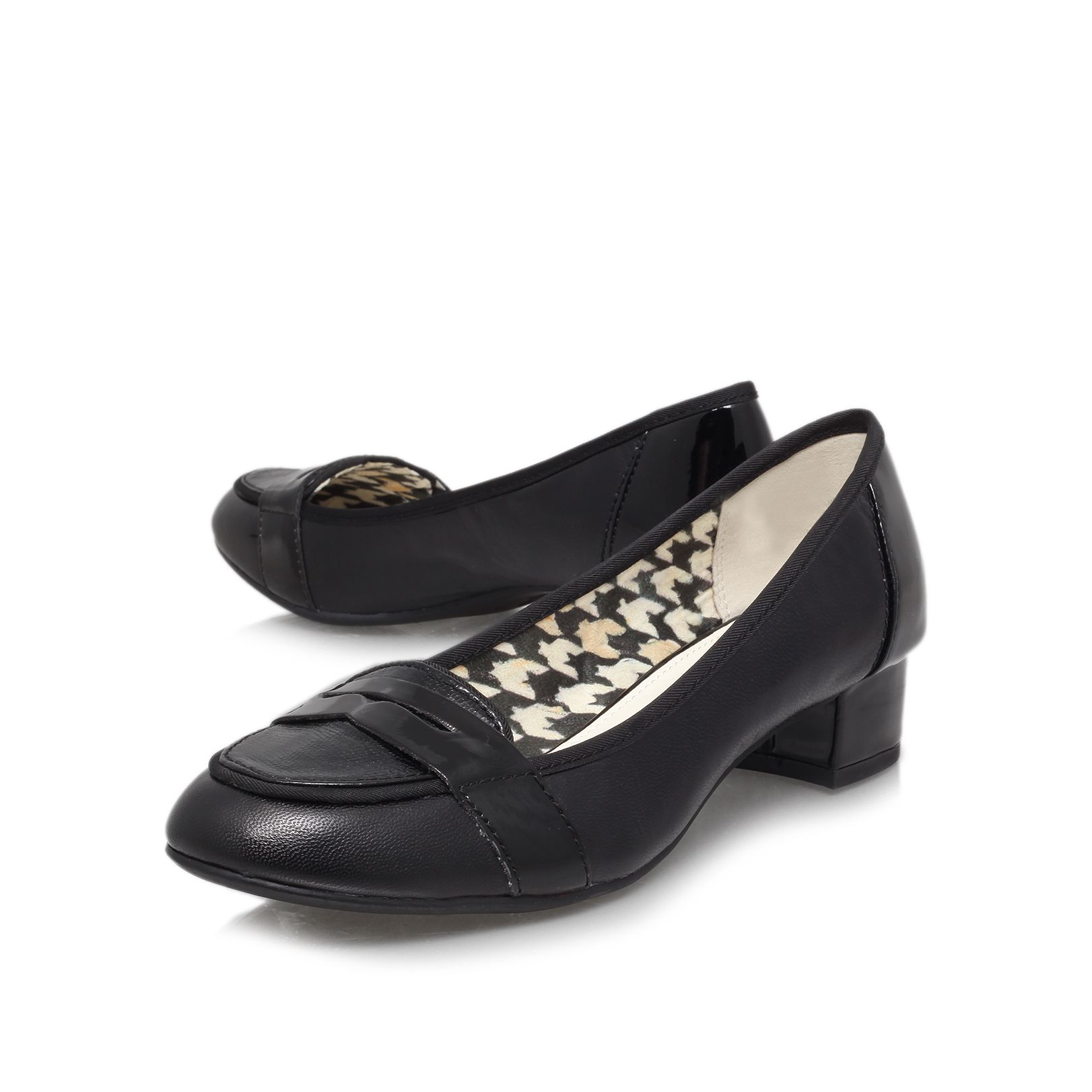 Magdha low heeled court shoes