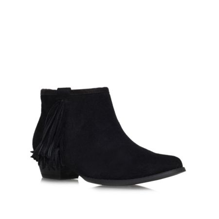 Miss KG Sassy low block heel fringed ankle boots