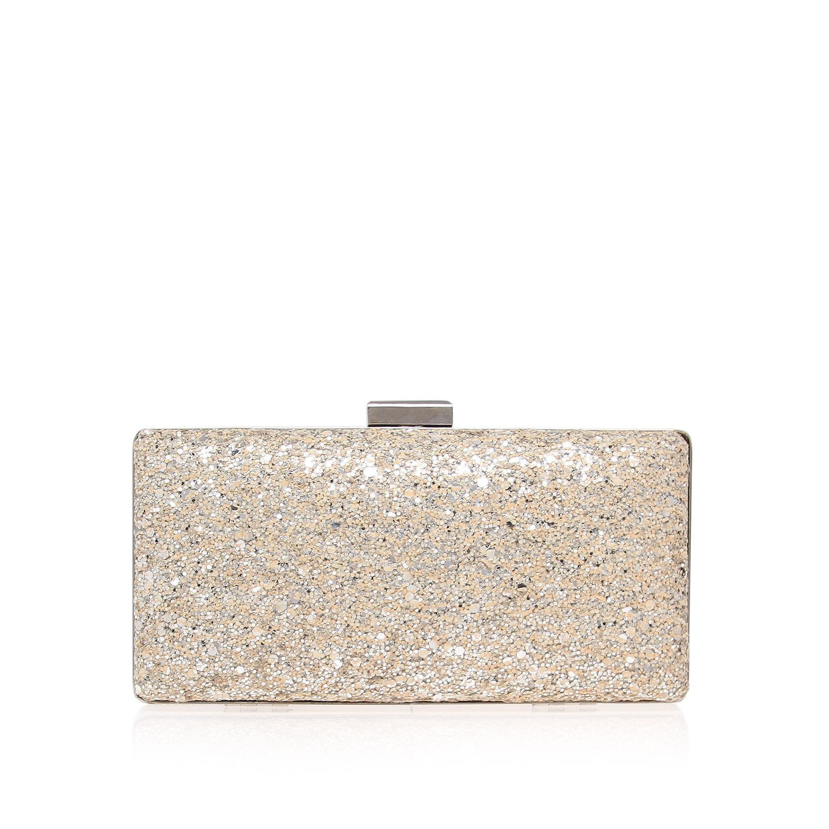 Tabitha Silver Clutch Bag