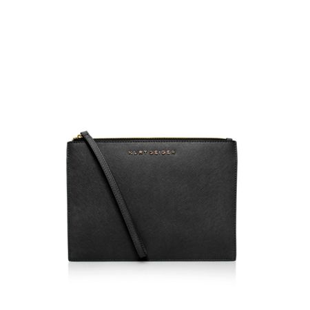 Kurt Geiger London Saffiano pouch with strap clutch bag
