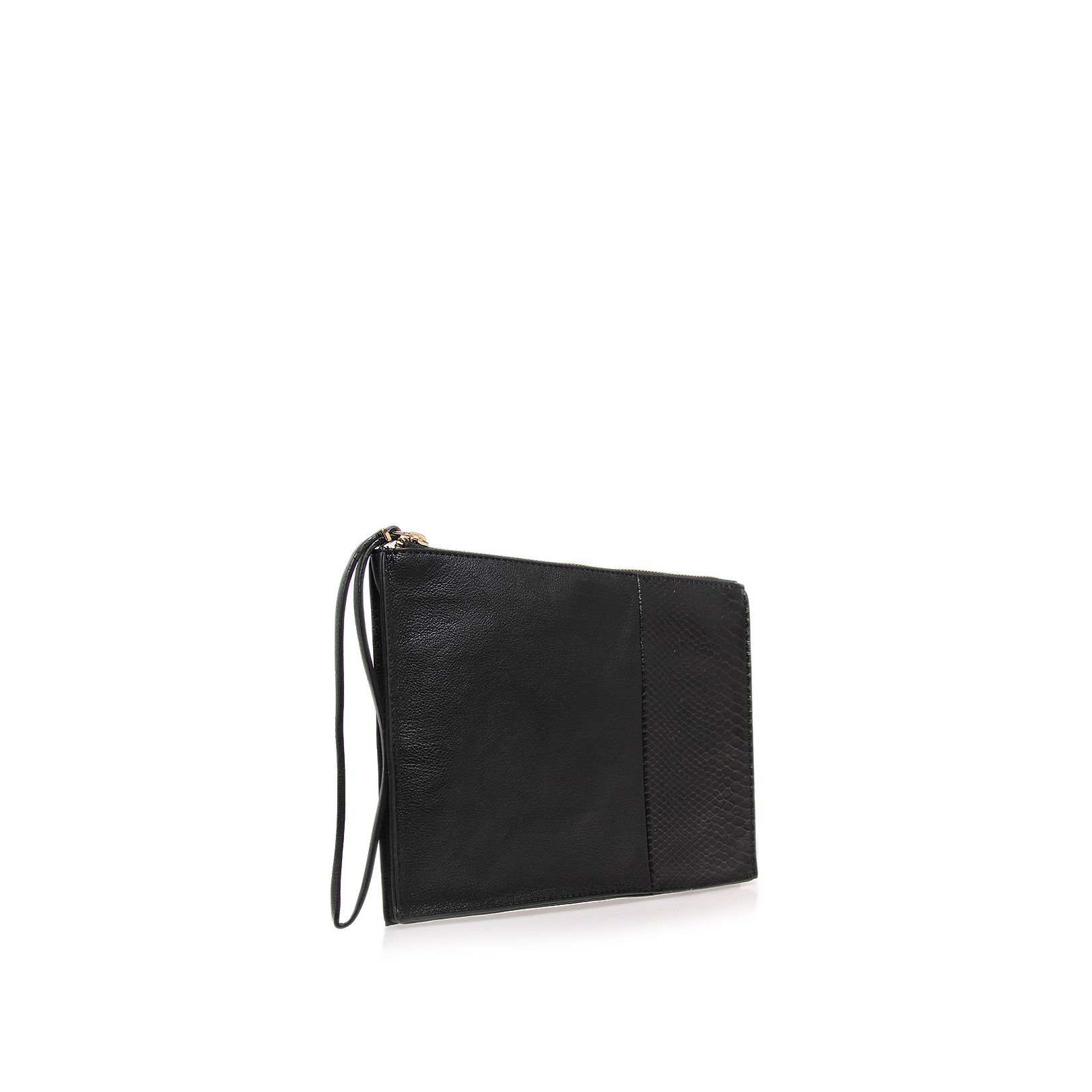 Toni black clutch bag