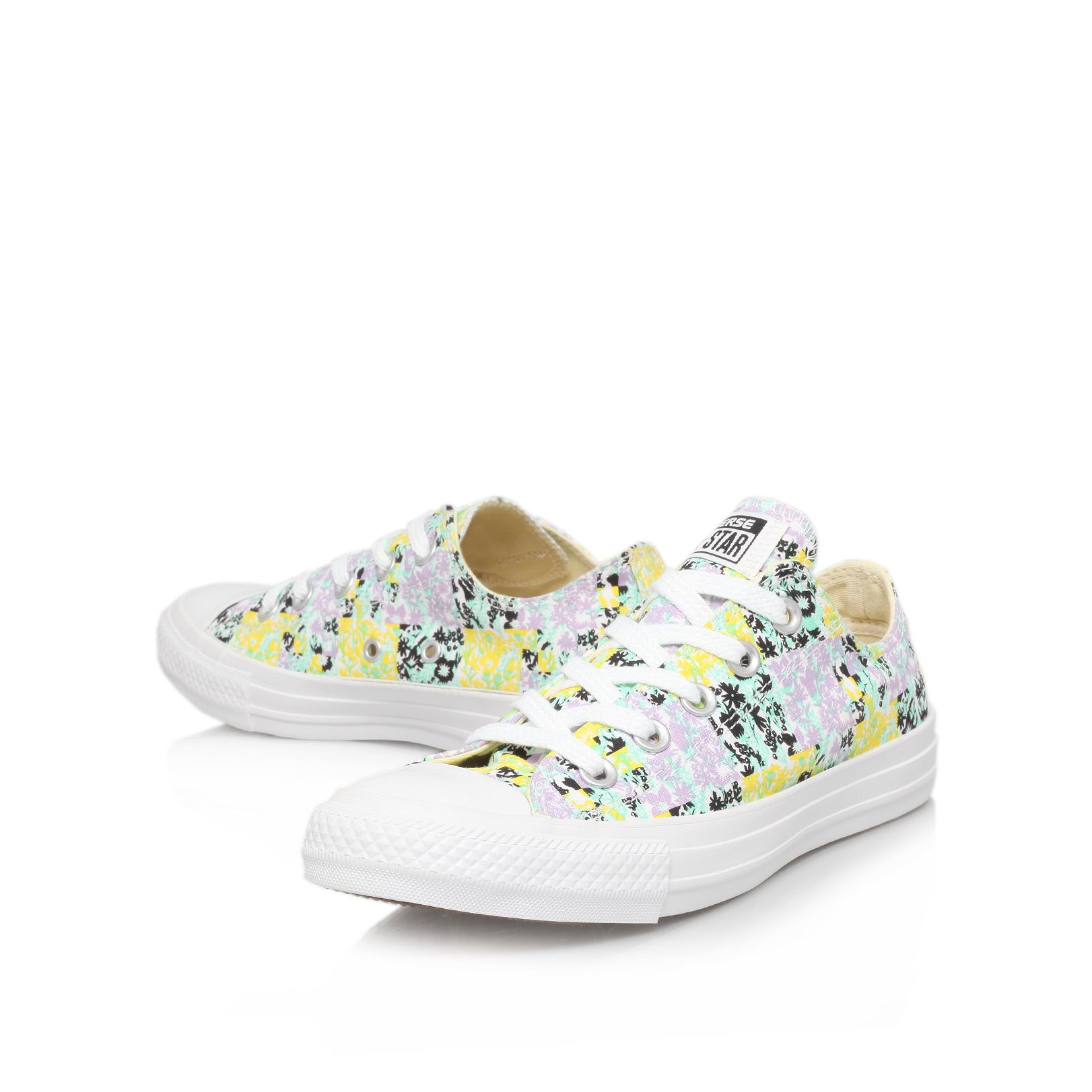 Floral low trainers