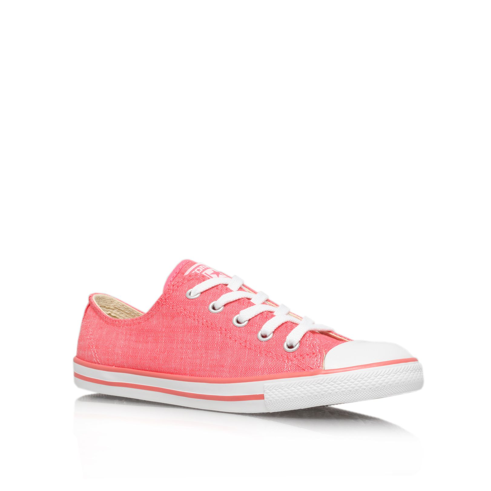 Dainty flat lace up casual trainers