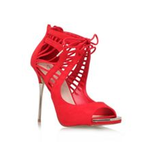 Gridlock High Heeled Strappy Court Shoes