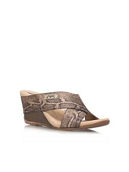 Anne Klein Lorri2 low wedge heeled sandals