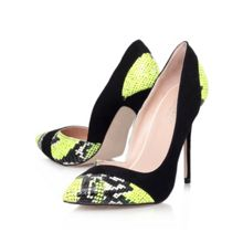 Aztec high heeled court shoes