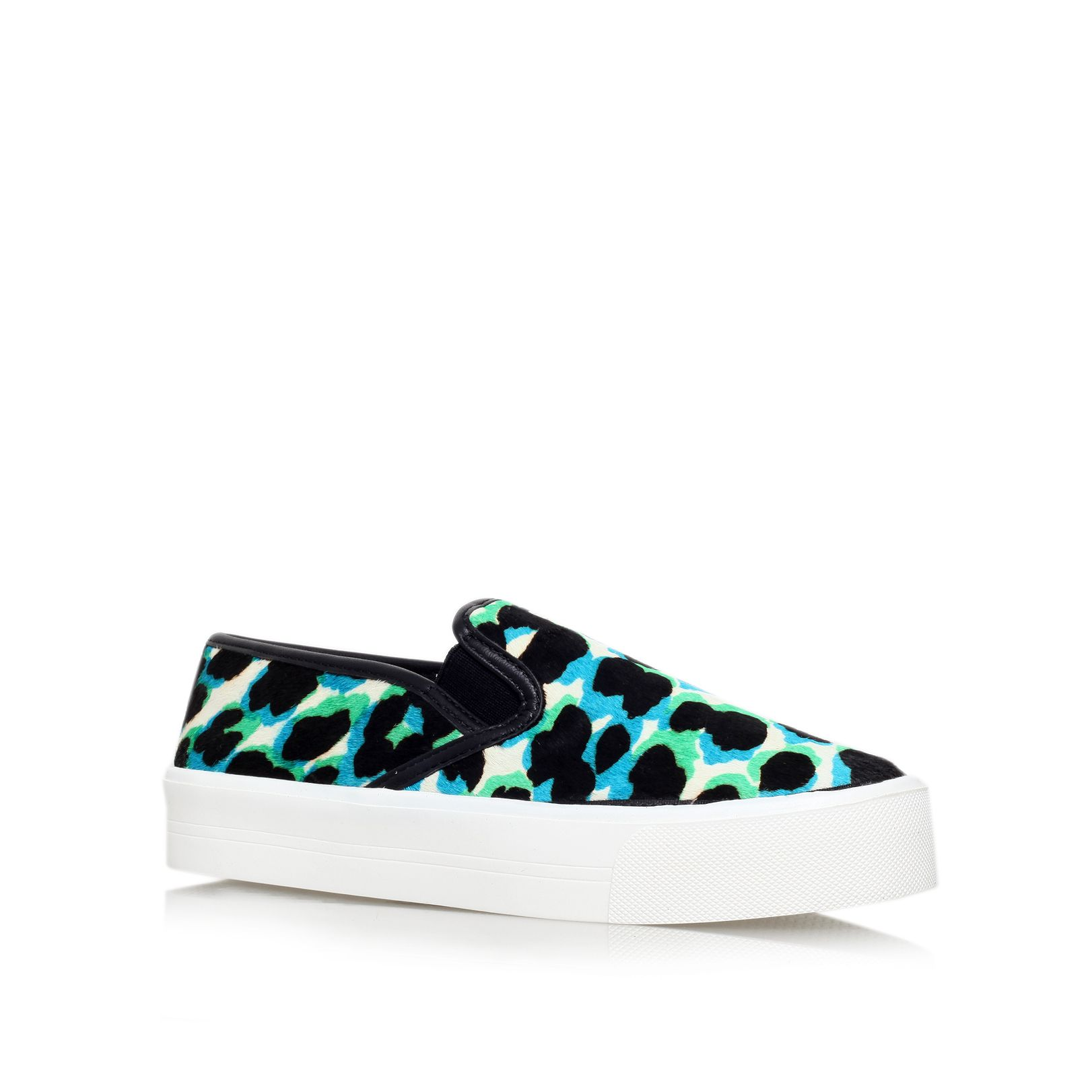 Carvela Lux combination flat slip on trainers