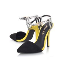 Adele combination high heel court shoes
