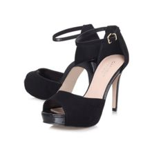 Leona high heeled peep toe court shoes