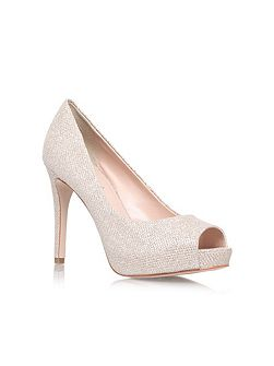 Lara high heel peep toe court shoes