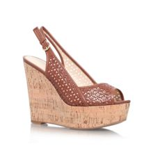 Axey high heel wedge sling back shoes