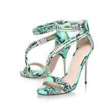 Glisten high heeled strappy sandals