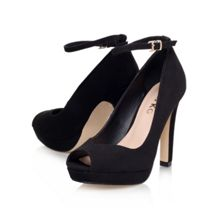 Anete high heel peep toe court shoes