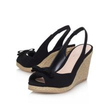 Suzie mid wedge heel peep toe shoe