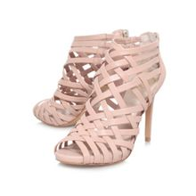 Farica high heeled strappy court shoes