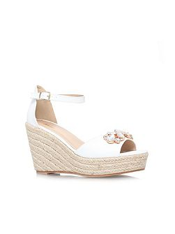 Lucie high wedge heel sandals