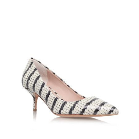 Kurt Geiger Tiarella low heeled court shoes