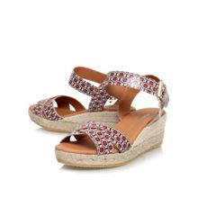 Libby combination mid wedge heel sandals