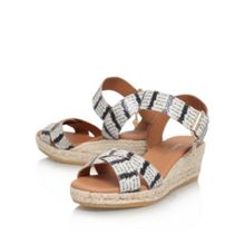 Kurt Geiger Libby low wedge heel sandals