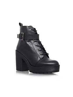 Sweep high heel lace up boots
