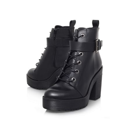 Carvela Sweep high heel lace up boots