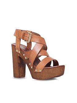 Kookie high block heel platform sandals