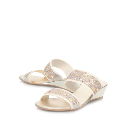 Carvela Comfort Comfort sage wedge heel sandals