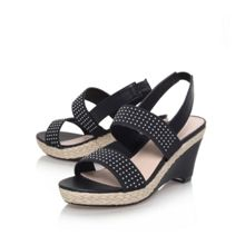 Sassy mid wedge heel sandals
