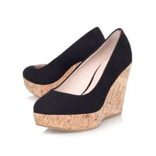 Attend high wedge heel court shoes