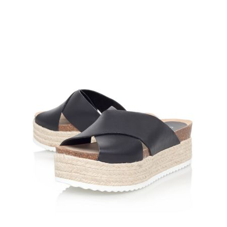 Carvela Kool flat platform slip on sandals