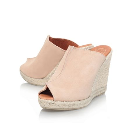KG Muffin wedge peep toe slip on shoes
