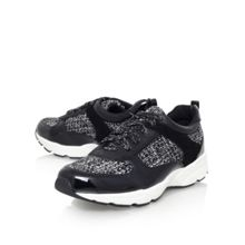 Liquorice flat lace up trainers