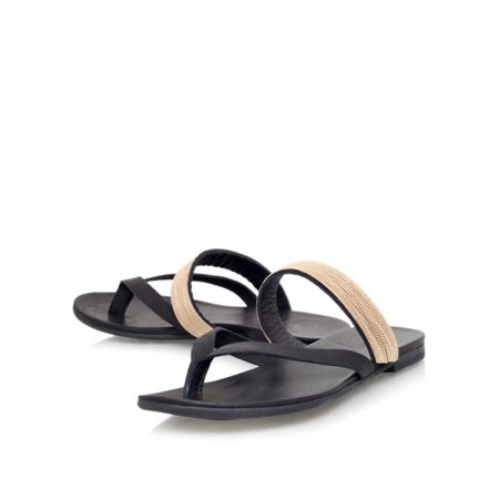 KG Mae flat toe post sandals