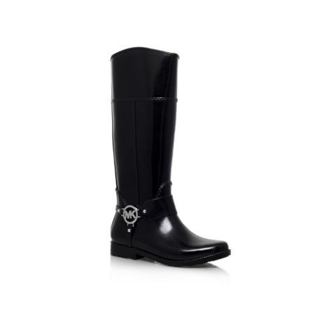 Michael Kors Fulton harness tll rain leather boots