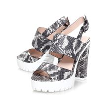 Miss KG Python high heel platform sandals