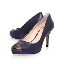 Kiley mid heeled peep toe court shoes