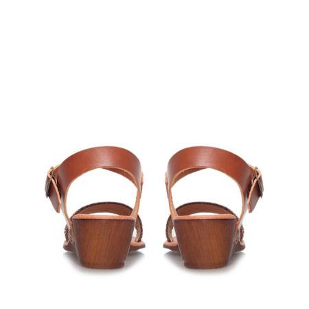 Carvela Comfort Saskia low wedge heel sandals