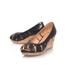 Jumbalia low wedge court shoes