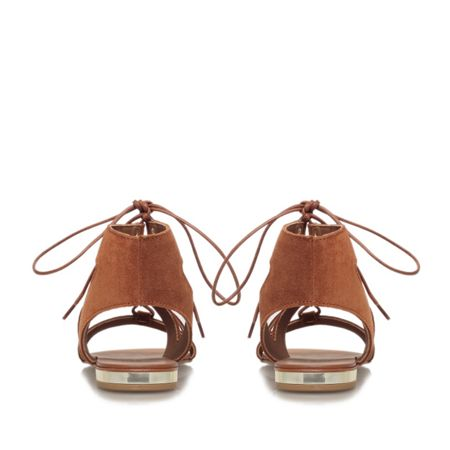 Carvela Kim rust flat strappy lace up sandals