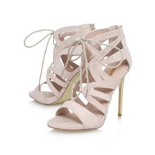 Game high heel lace up shoe boots