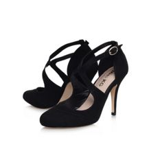 Nicola high heel strappy court shoes