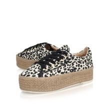 Miss KG Loop flat platform printed shoes