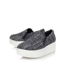 KG Lizard flat platform slip on shoes