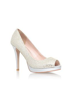 Carvela Lily high heel peep toe court shoes