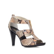 Berkley t strap high block heel sandals