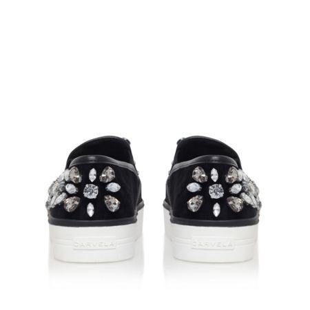 Carvela Luxor flat embellished slip on trainers